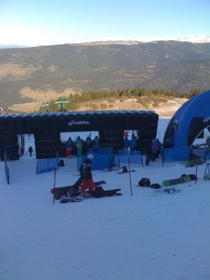 La molina slopestyle start Gate 2011