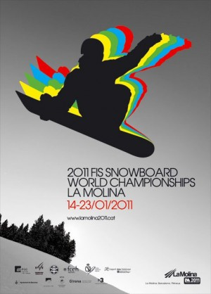 La Molina world Snowboarding Championships 2011 Large Poster