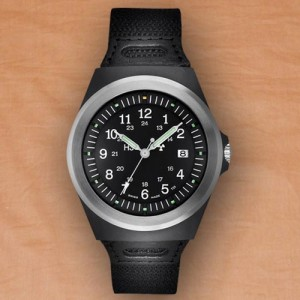 traser 5900 Black with Steel bezel