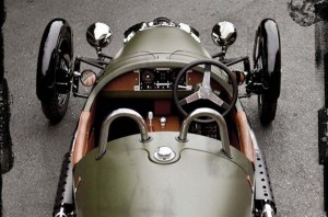 morgan 3 wheeler top view looking forward