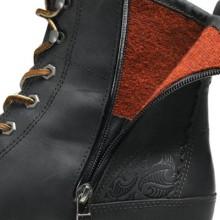 Olukai Mauna Kea boot zipper detail