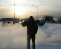 Boiling water thrown in face at -40c