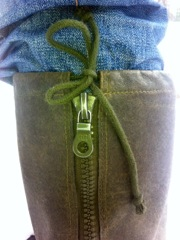 Swiss Wool Gaiter Zipper detail