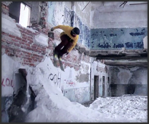 Urban Freestyle skiing in Russia