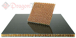 Carbon Fiber Honeycomb core Dragon Plate