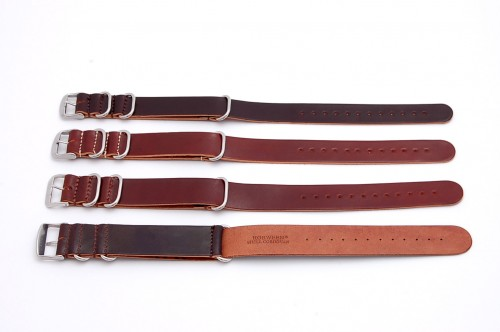 Leffot leather Nato g10 watch strap