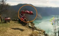 insane wingsuit birthday flyby