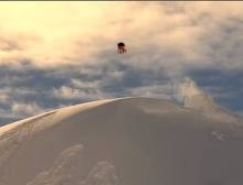 Jake Koia attempting triple backflip in whislter