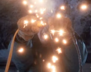 Clark plugs in the lights