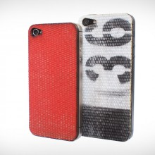 reclaimed fire hose iphone covers red black