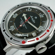 Vostok Amphibia Black dial Automatic watch