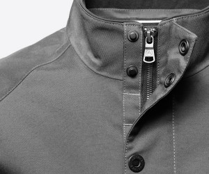 skyline collar and zipper detail